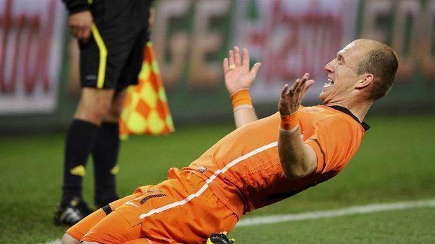 """Ani Arjen Robben předpovědi zoolské šamanky nevěří, ve vítězství """"oranjes"""" však věří."""