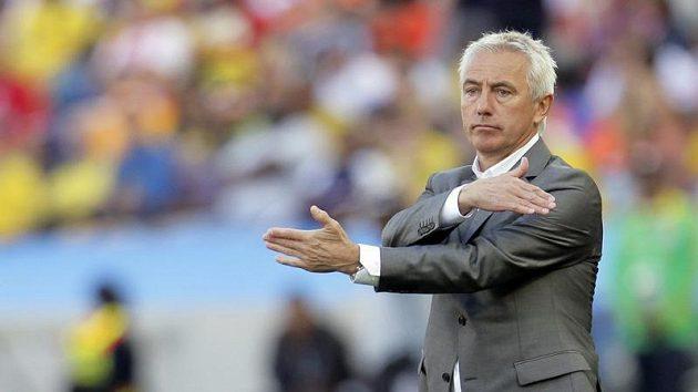 Kouč Nizozemců Bert van Marwijk během utkání s Japonskem.