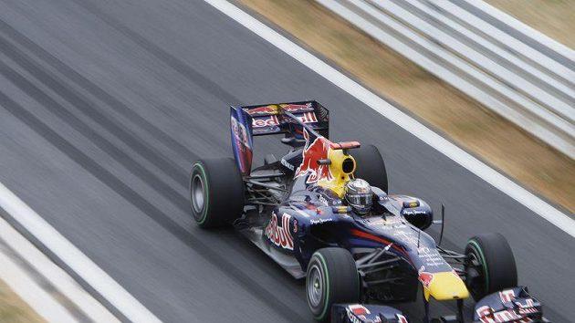 Pilot formule 1 Sebastian Vettel během Velké ceny Koreje