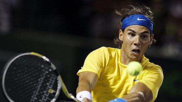 Rafael Nadal se v pohodě dostal v Miami do semifinále.