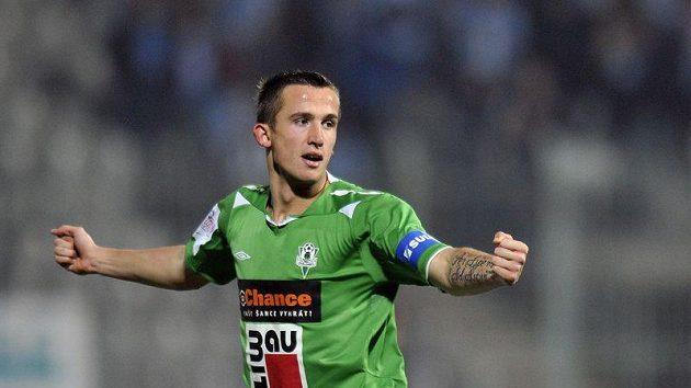Tomáš Pekhart se raduje z gólu