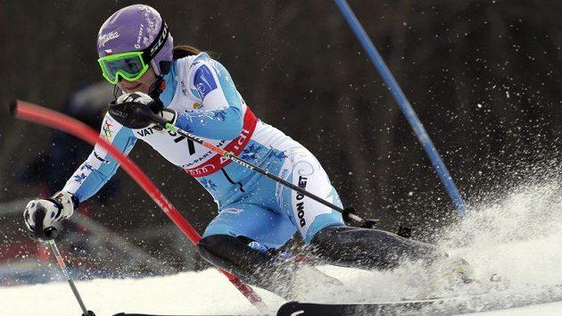 Šárka záhrobská na slalomové trati v Garmisch-Partenkirchenu.