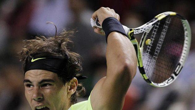 Rafael Nadal na tenisovém turnaji v Tokiu