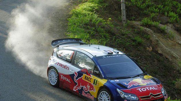 Sébastien Loeb s vozem Citroën C4 WRC