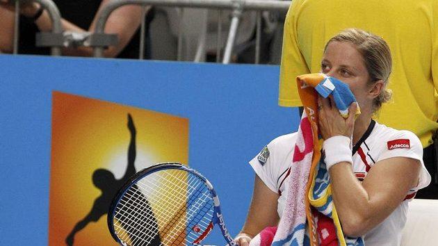 Belgická tenistka Kim Clijstersová krátce po vypadnutí z Australian Open.