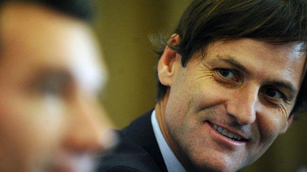 Bývalý český tenista Karel Nováček na tiskové konferenci