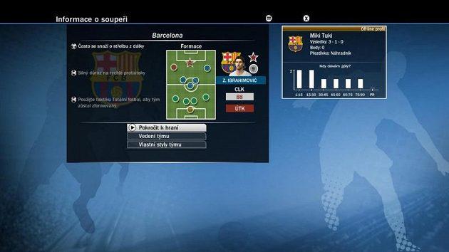 Už v hratelném demu vám skaut perfektně přečte hru Barcelony. Snad to na ně bude stačit!