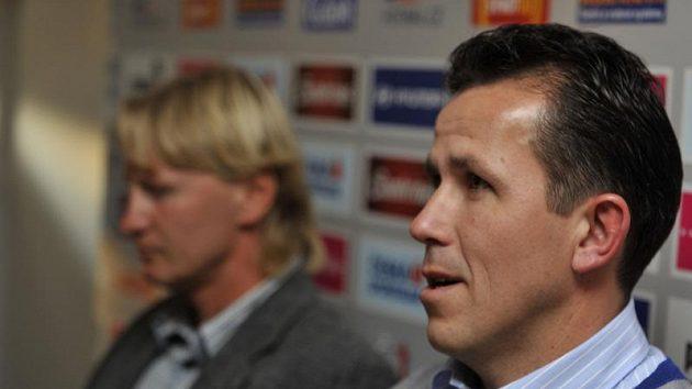 Bývalí fotbaloví reprezentanti Tomáš Galásek (vpravo) a Radek Bejbl.