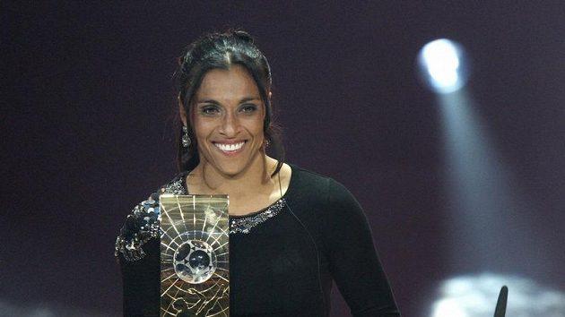 Cenu pro nejlepší fotbalistku si odnesla Brazilka Marta.
