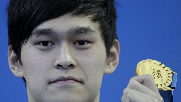 Čínský plavec Sung Jang