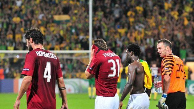 Fotbalisté Sparty po odvetném zápase se Žilinou