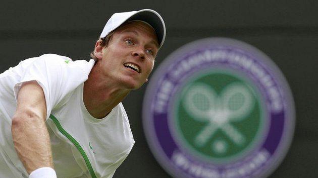 Tenista Tomáš Berdych na Wimbledonu