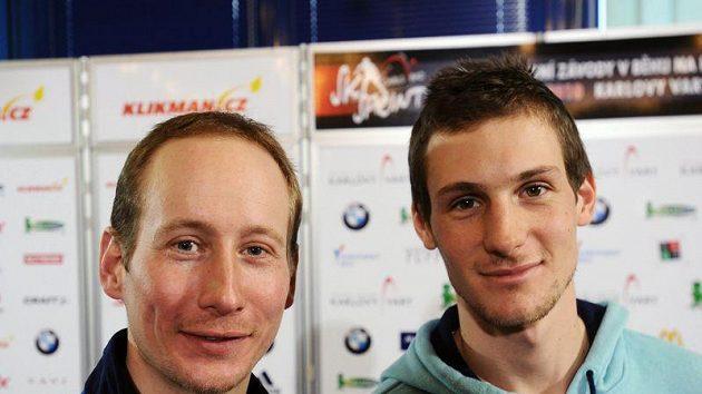 Lukáš Bauer (vlevo) a Martin Jakš po návratu z finského Kuusama.