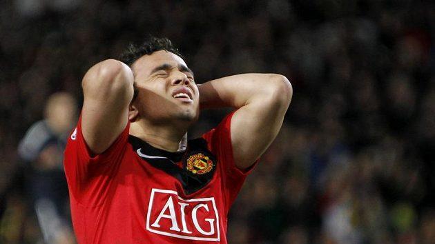 Zklamaný fotbalista Manchesteru United Rafael