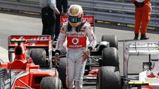 Lewis Hamilton byl v tréninku v Monze nejrychlejší.
