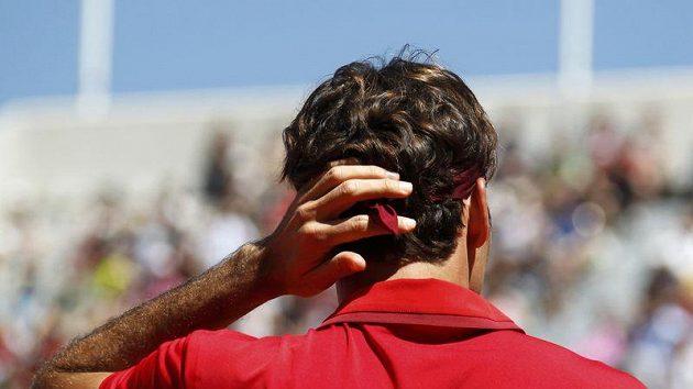 Roger Federer se ve druhém kole ani moc nezapotil