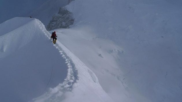 Výstupová trasa na Gasherbrum II.