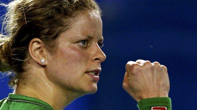 Kim Clijstersová během finále Australian Open.