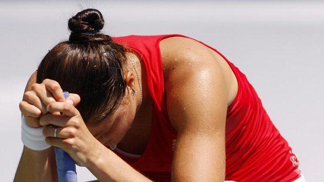 Zklamaná ruská tenistka Dinara Safinová