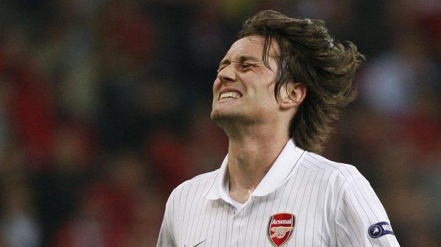 Tomáš Rosický v dresu Arsenalu