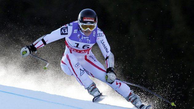 Rakouská lyžařka Elisabeth Görglová během superobřího slalomu na mistrovství světa v Garmisch-Partenkirchenu.