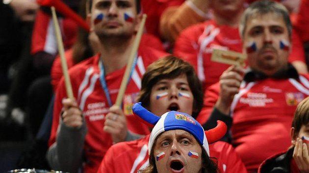 Fanoušci povzbuzovali české florbalisty v semifinále proti Finsku marně.