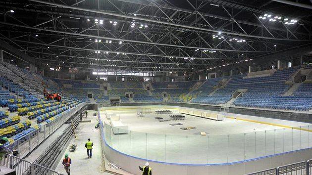 Podoba (prosinec 2010) haly v Bratislavě, kde se odehraje na jaře roku 2011 hokejové mistrovství světa.