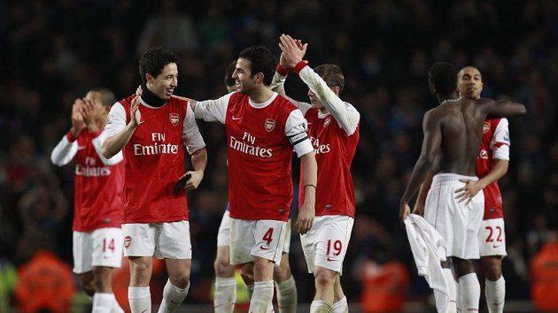 Radost fotbalistů Arsenalu
