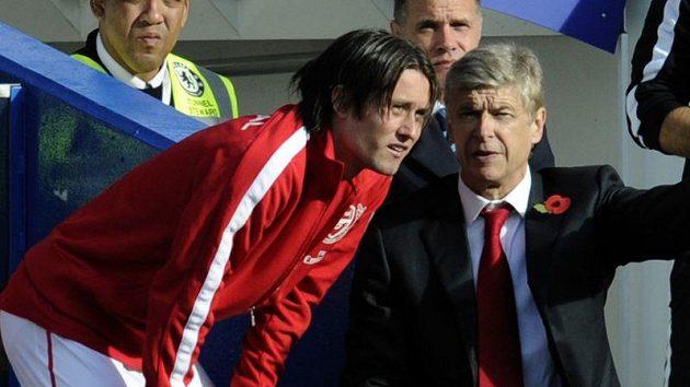 Podle Arsene Wengera nepřichází odchod Tomáše Rosického v úvahu.