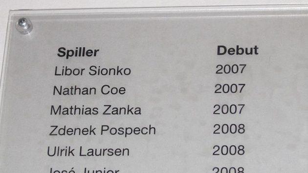 Jména českých legionářů Libora Sionka a Zdeňka Pospěcha už zůstanou navždy vyrytá v klubovně FC Kodaň.