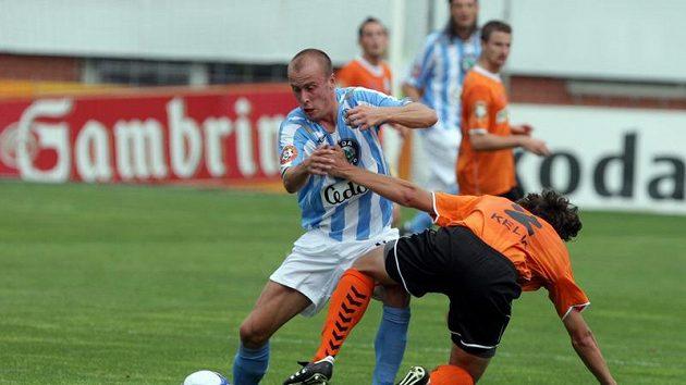 Mladoboleslavský Ivo Táborský (vlevo) si připsal krásný gól.