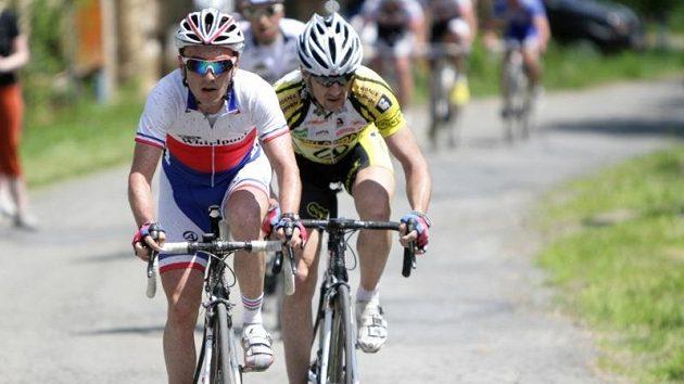 V cíli závěrečné etapy závodu Haná Tour byl Martin Mareš rychlejší než celkový vítěz Milan Kadlec.