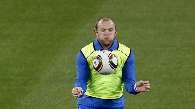Wayne Rooney na tréninku anglické reprezentace
