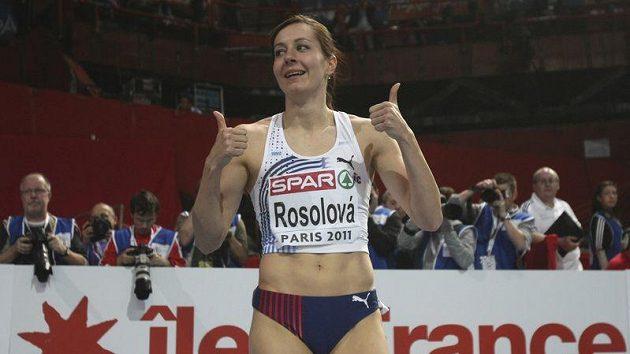 Denisa Rosolová v cíli.
