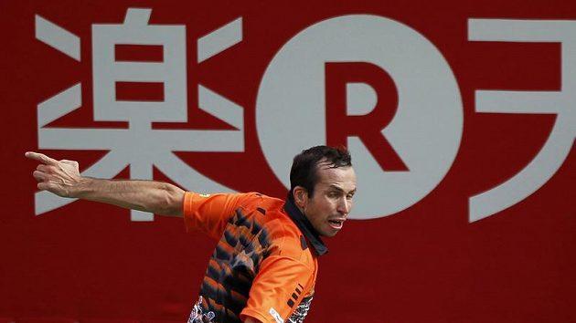 Tenista Radek Štěpánek na turnaji v Tokiu