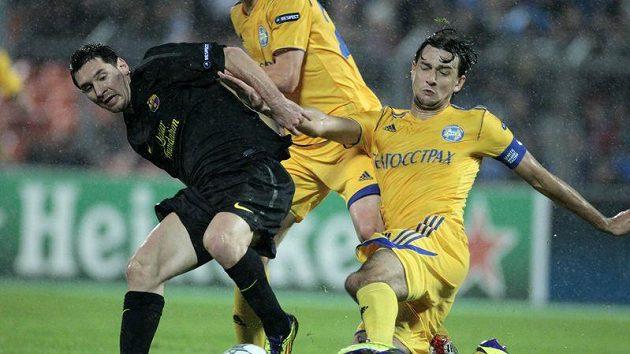 Na Lionela Messiho (vlevo) hráči Borisova ve středu prostě neměli.