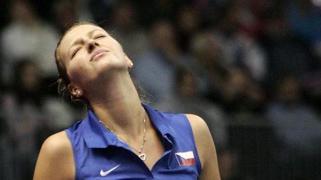 Česká fedcupová reprezentantka Petra Kvitová