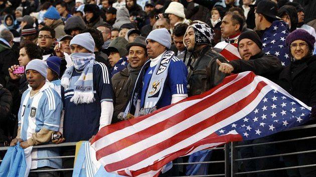 Fanoušci na utkání USA - Argentina