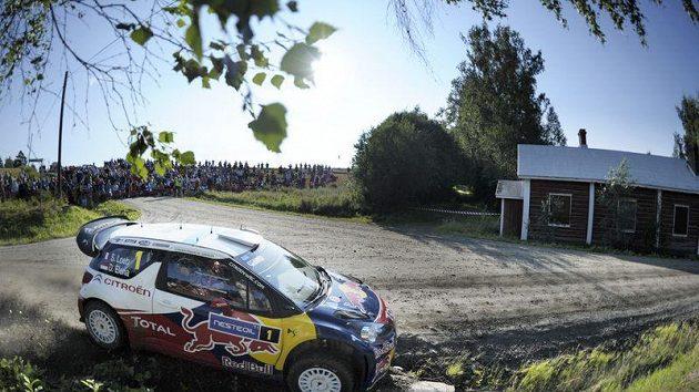 Sebastien Loeb na trati Finské rallye