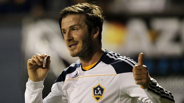 David Beckham v dresu Los Angeles.