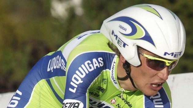 Český cyklista Roman Kreuziger během prologu závodu Kolem Romandie.