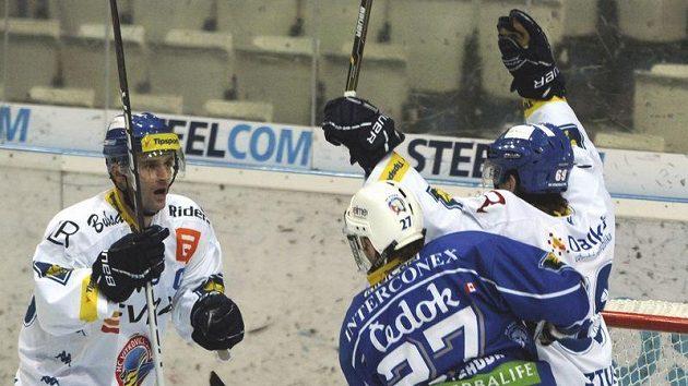 Radost vítkovických hokejistů.