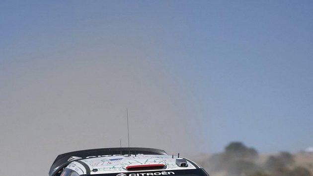 Sébastien Loeb na trati rallye.