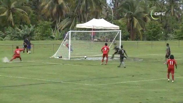 Kvalifikační fotbalový zápas Tonga - Cookovy ostrovy