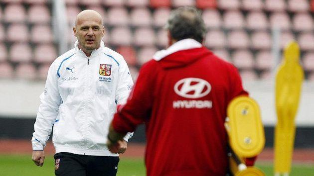Trenér Michal Bílek na tréninku reprezentace