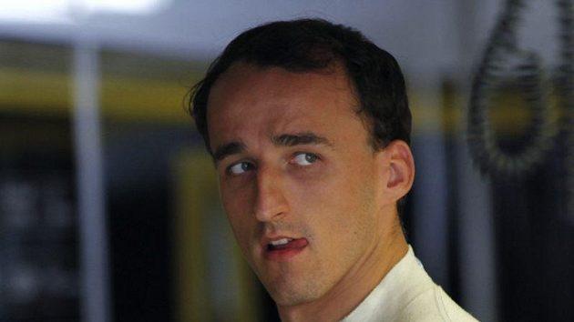 Polský závodník Robert Kubica