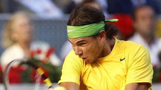 Španělský tenista Rafael Nadal ve finále turnaje v Madridu