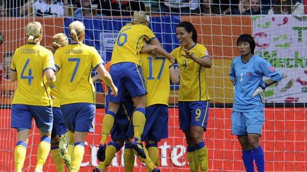 Radost švédských fotbalistek