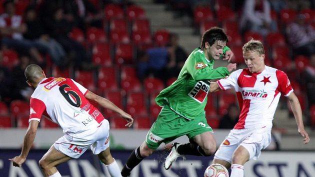 Anes Haurdič (v zeleném) ještě v době, kdy hrál za Jablonec.