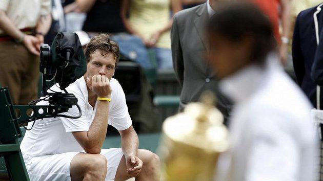 Tomáš Berdych po finále Wimbledonu
